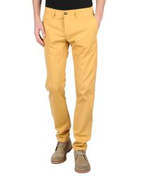 Carhartt | Yellow Casual Trouser for Men | Lyst