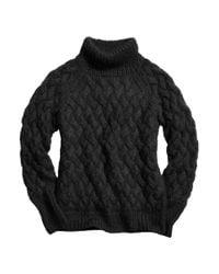 COACH Black X Blitz Mohair Funnel Neck Sweater
