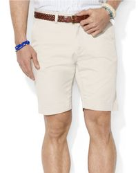 Polo Ralph Lauren - Natural Classic Fit Flat-Front 9 Inch Chino Shorts for Men - Lyst