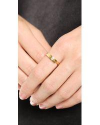 Kristen Elspeth - Metallic Lightning Ring Gold - Lyst