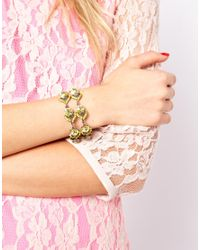 ASOS Yellow Limited Edition Premium Ornate Jewel Bracelet