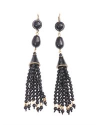 Isabel Marant - Black Paris Lovers Bead Tassel Earrings - Lyst