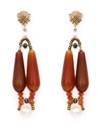 Ziio | Red 'Murano' Glass Bead Earrings | Lyst
