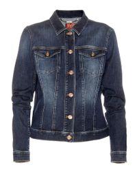 7 For All Mankind Blue Classic Trucker Denim Jacket