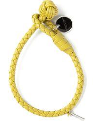 Bottega Veneta Orange Intrecciato Bracelet