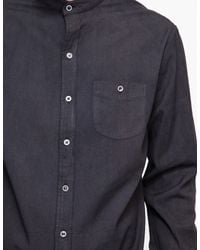 Industry of All Nations | Black Mao Madras Shirt Iron 8 Dips for Men | Lyst