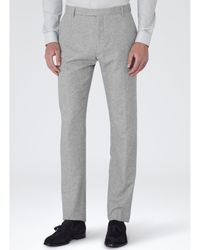 Reiss Gray Barnaby Modern Fit Suit Trousers for men