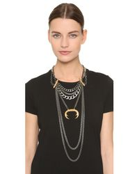 Laura Cantu - Metallic Layered Statement Necklace - Lyst