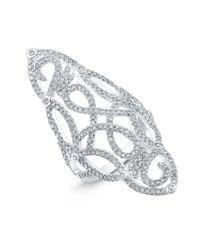 Anne Sisteron - Metallic 14kt White Gold Diamond Taylor Ring - Lyst