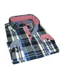 Giorgio Bellini   Blue Americana Sport Shirt Phantom Slim Collection for Men   Lyst