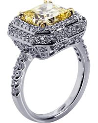 Carat* | Princess Yellow 3ct Borderset Ring | Lyst