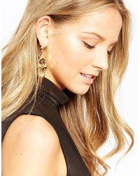 Ashiana   Metallic Star Drop Earrings   Lyst