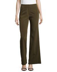ESCADA - Brown Silk-blend Wide-leg Pants - Lyst