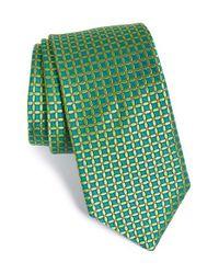 Ted Baker - Green 'parquet' Silk Tie for Men - Lyst