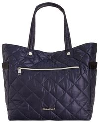 Calvin Klein | Blue Cire Reversible Extra Large Quilted Nylon Tote | Lyst