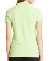Polo Ralph Lauren | Green Skinny-fit Big Pony Polo Shirt | Lyst