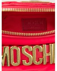 Moschino | Red Logo-Detail Cotton Bumbag | Lyst