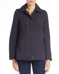 Calvin Klein - Blue Fitted Quilted Jacket - Lyst