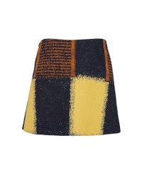 Marni | Metallic Mix Print Skirt | Lyst