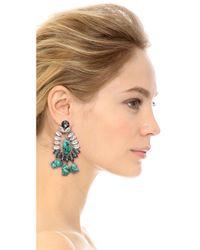 By Malene Birger Blue Braicca Clip On Earrings