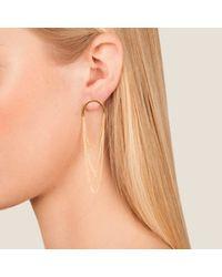 Dutch Basics | Pink Boog Drop Earrings Semicircle Rose Gold | Lyst