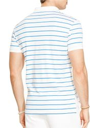 Polo Ralph Lauren | White Striped Pima Soft-Touch Polo Shirt for Men | Lyst
