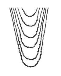 John Lewis Black Sparkle Multi Layered Long Necklace