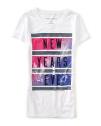 Aéropostale | White New Year's Eve Graphic T | Lyst