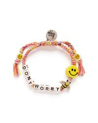 Venessa Arizaga | Multicolor 'don't Worry Bee Happy' Bracelet | Lyst
