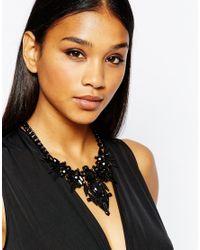 Lipsy | Black Dark Geo Statement Necklace | Lyst