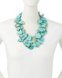 Panacea - Blue Turquoise Statement Necklace - Lyst