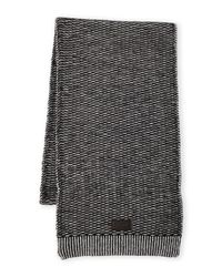 Original Penguin | Black Two-Tone Stitch Scarf for Men | Lyst