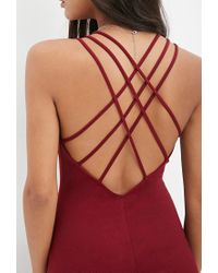 Forever 21 - Purple Strappy-back Bodycon Dress - Lyst