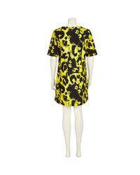 River Island Black Yellow Painted Animal Print Shift Dress