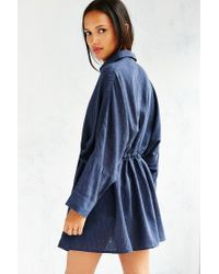 BDG - Blue Modern Drawstring Shirt Dress - Lyst