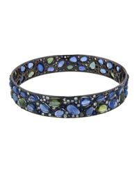 Arunashi - Blue Sapphire and Diamond Bangle - Lyst