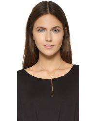 KC Designs - Metallic Double Lariat Diamond Necklace - Lyst