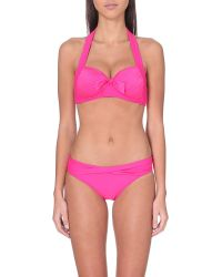 Seafolly | Purple Goddess Halterneck Bikini Top - For Women | Lyst