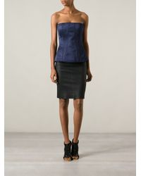 Givenchy Blue Bustier Top