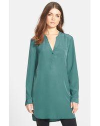 Trouvé | Blue Long Sleeve Tunic | Lyst