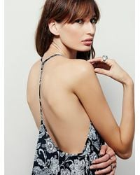 Free People | Black Intimately Womens Small Talk Printed Slip | Lyst