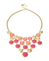 Trina Turk | Pink Hexagon Bib Necklace | Lyst