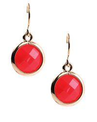 Anne Klein | Purple Goldtone Tanzanite Double Drop Earrings | Lyst