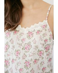 Forever 21 - Multicolor Crocheted Rose Print Nightdress - Lyst
