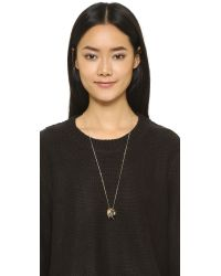 Sam Edelman | Metallic Geo Rings Necklace - Two Tone | Lyst