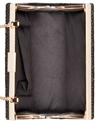 La Regale | Black Mesh Box Clutch | Lyst