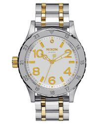 Nixon | Metallic 'the 38-20' Bracelet Watch | Lyst