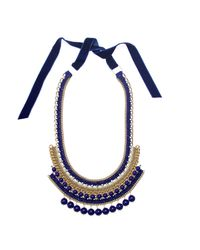 Margot & Me | Blue Erin Necklace In Navy | Lyst