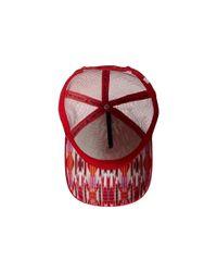 Prana - Red La Viva Trucker Hat for Men - Lyst