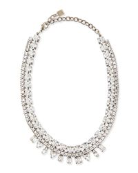 DANNIJO | Metallic Grant Crystal Bib Necklace | Lyst